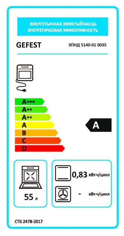 Электрическая плита Gefest 5140-01 0035