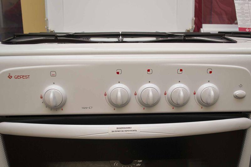 Газовая плита Gefest 1200 С7 - панель управления