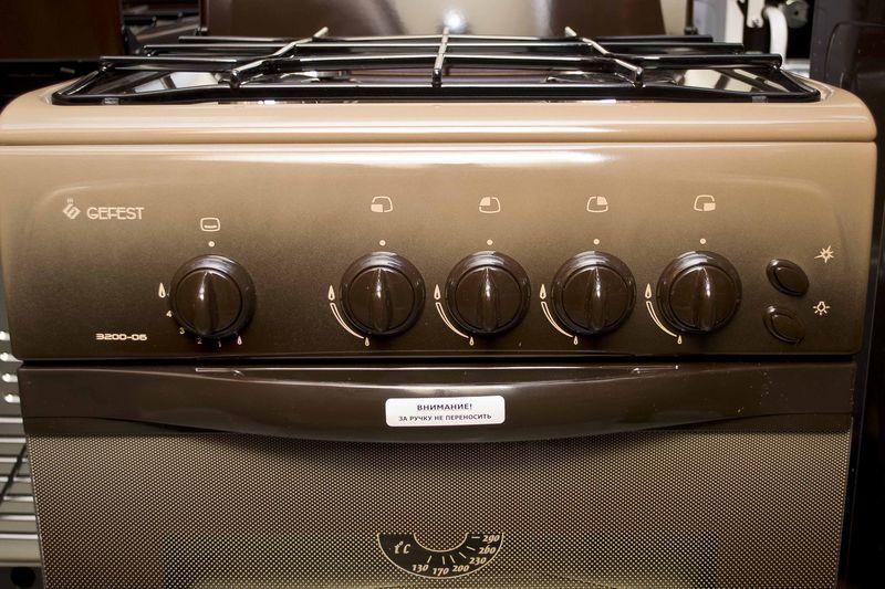 Газовая плита Gefest 3200-06 К19 - панель управления