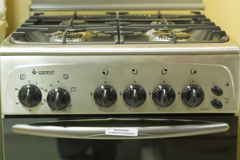 Газовая плита Gefest 3200 К60 - панель управления